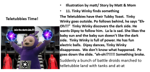 One of our Teletubbies slides
